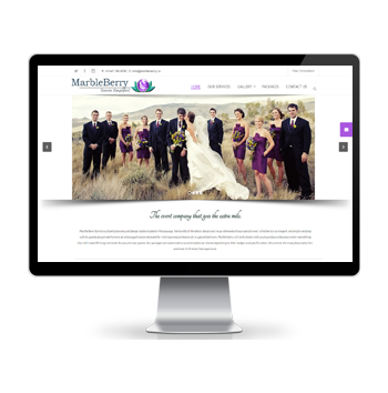 Event Planner Website Design